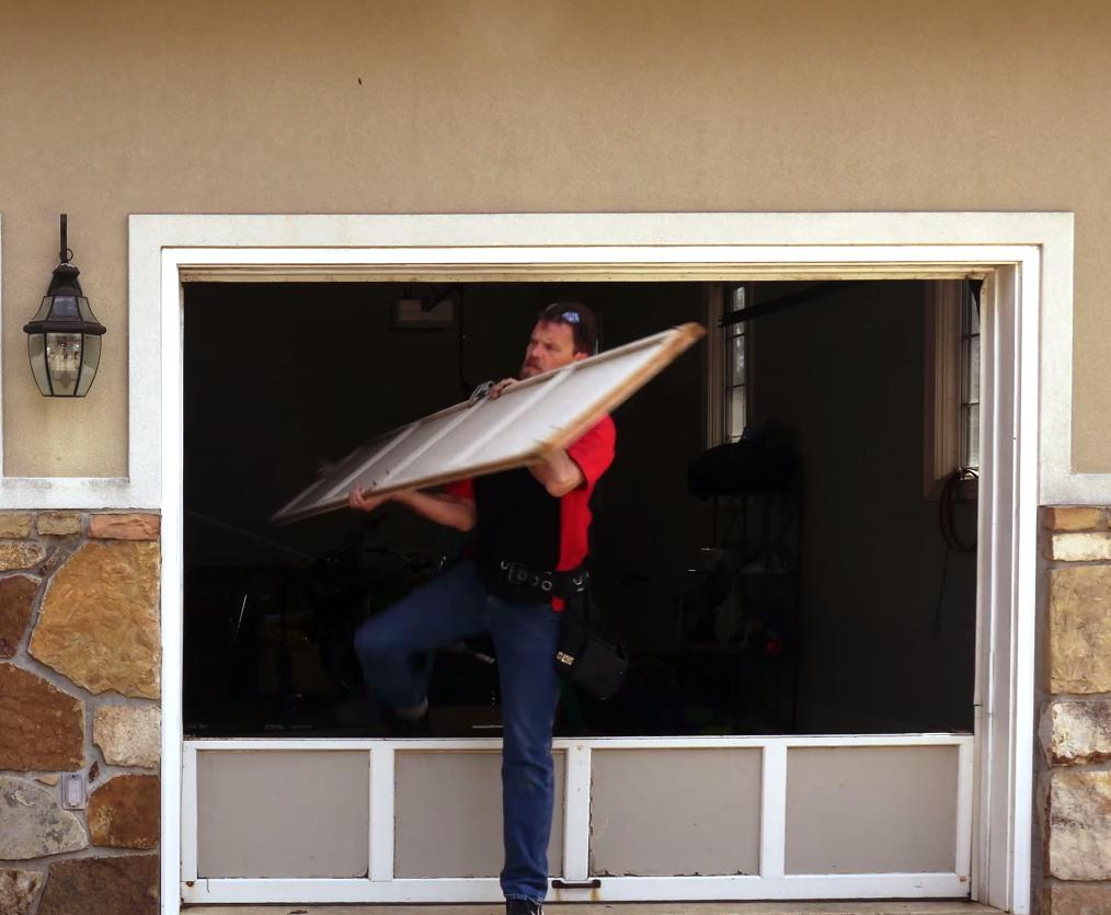 Garage Door Section Install